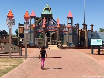 Castle playground at West Wetlands Park